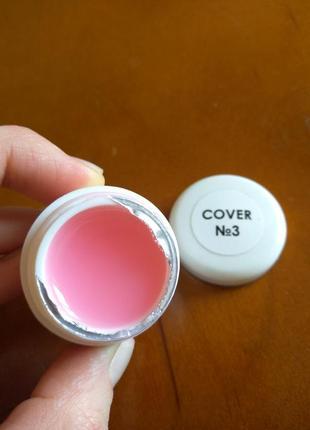 Прозрачно-розовый гель для наращивания.