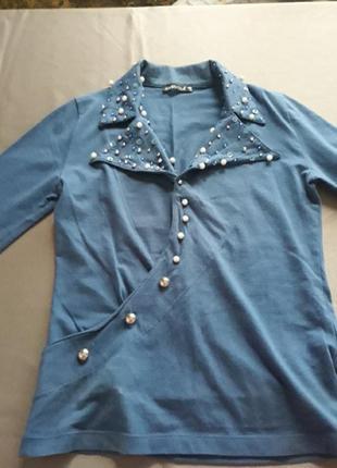 Блузка синяя турция