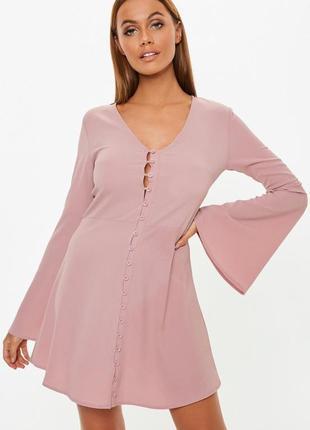 Пыльно розовое платье zara