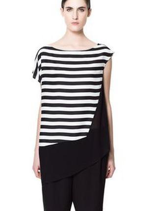 Zara стильная блуза шифон