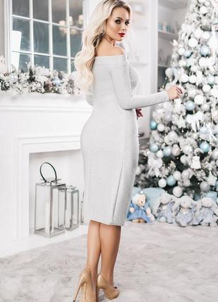Интересное блестящее платье3 фото