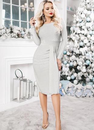Интересное блестящее платье2 фото