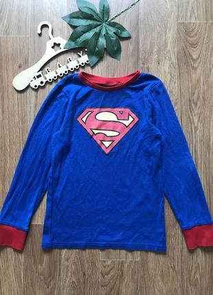 Крутая кофта реглан superman h&m 6-8 лет