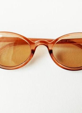 Очки коричневые модные от солнца солнцезащитные женские, стиль ретро винтаж