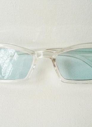 Очки голубые модные солнцезащитные женские, стиль ретро винтаж