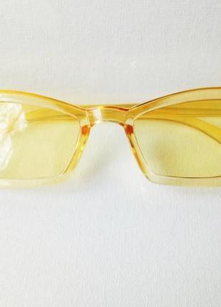 Очки желтые модные солнцезащитные женские, стиль ретро винтаж