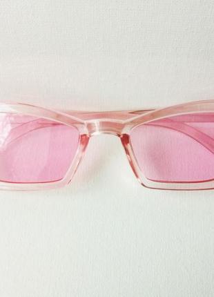 Очки розовые солнцезащитные женские, стиль ретро винтаж