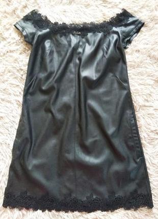 Кожаное платье.италия.
