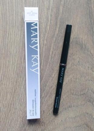 Механический карандаш для глаз с колпачком-точилкой deep brown темно-коричневый mary kay
