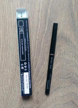 Механический карандаш для глаз с колпачком-точилкой deep brown темно-коричневый mary kay2 фото