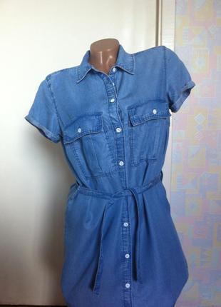 Платье из эко джинса h&m