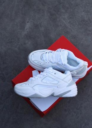 Шикарные женские кроссовки nike m2k tekno white белые 😍