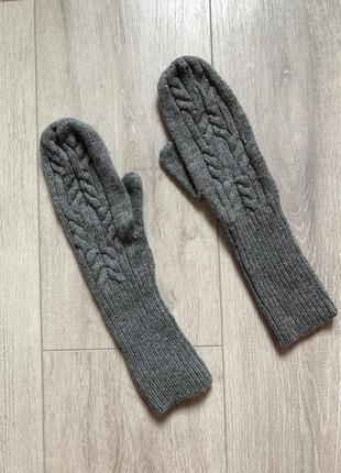 Варежки вязанные h&m