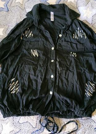 Блуза в паетки, италия, размер 46-50