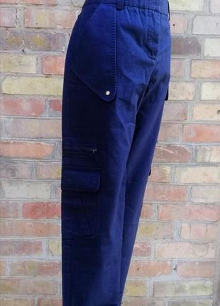 Стильные брюки карго от diane von furstenberg высокая посадка штаны с карманами cargo ,