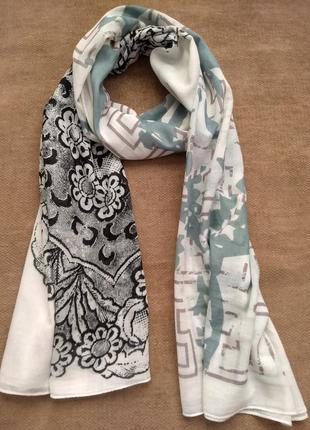 Легкий шарф парео cream de luxe накидка+ 300 шарфов платков на странице