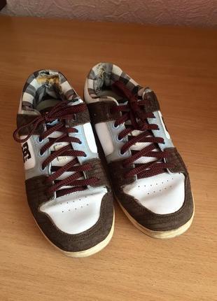 Кожаная спортивная обувь dc