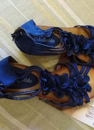 Босоножки синие