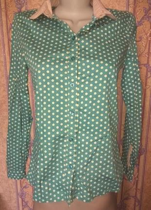 Рубашка в горох, размер s