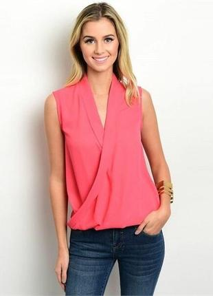 Рубашка блуза vila на запах