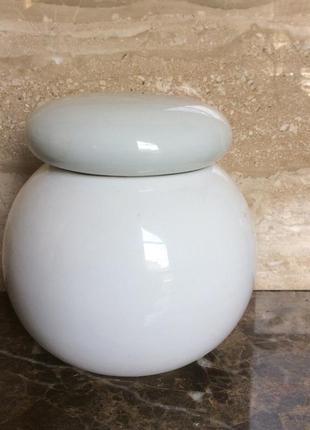 Баночка для хранения с пробковой крышкой, керамика