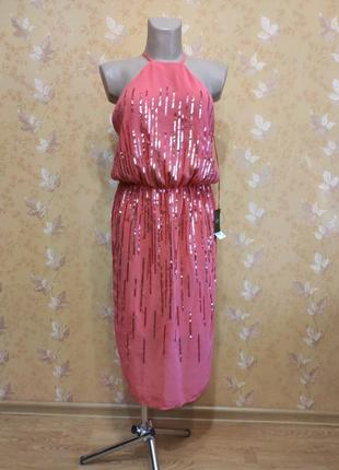Платье вечернее с паетками