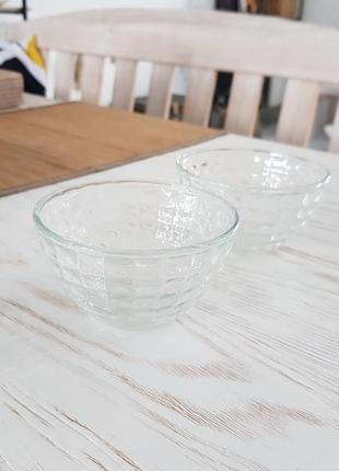 Пиала миска прозрачная