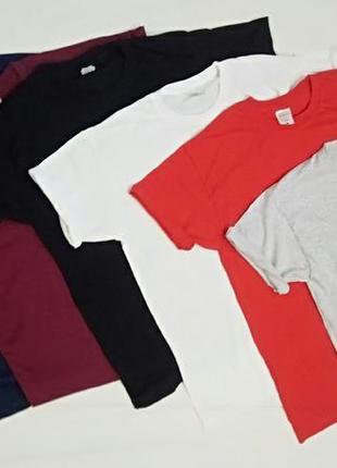 Базовые однотонный  футболки разных цветов,из 100% хлопка!!!дёшево!!