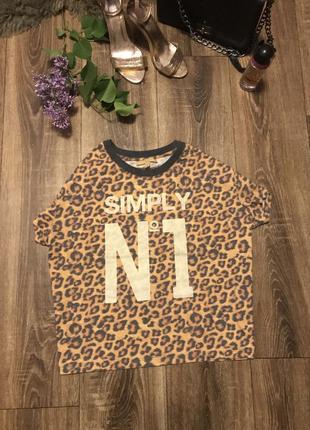 Леопардова футболочка  від zara