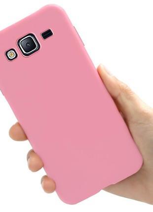 Чехол style для samsung j7 neo / j701 бампер силиконовый розовый