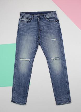 Классные джинсы с рваностями от h&m