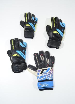 Футбольные вратарьские перчатки pro touch