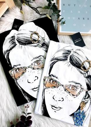Крутые футболки с девочкой с камнями и бусинами