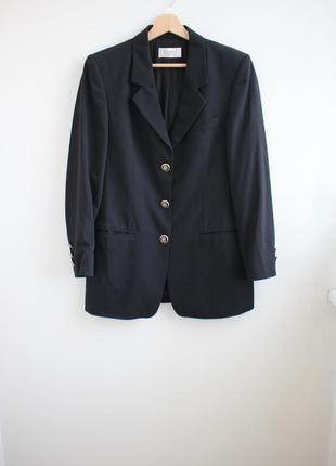 Винтажный шерстяной удлиненный пиджак delmond