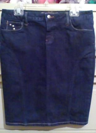 Крутая джинсовая юбка hint jeans