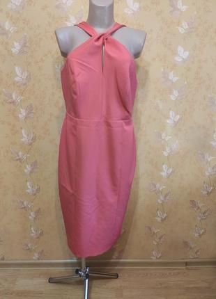 Платье вечернее коктельное коралловое
