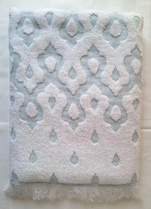 Мягкое и нежное банное полотенце с жаккардовым узором 100% хлопок турция