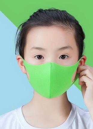 Маска на лицо детская салатовая (1 шт/уп)