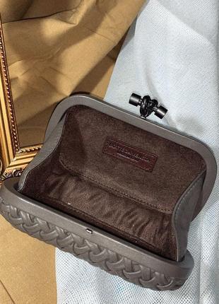 Кожаный клатч knot 🥰 от bottega veneta