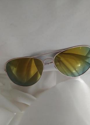 Солнцезащитные очки авиаторы хамелеоны в золотой оправе очки с желтыми стеклами