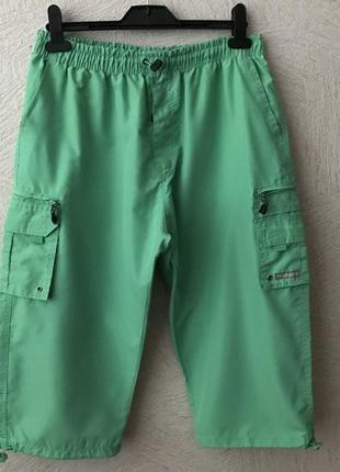 Marcel battiston  ярко зеленые бриджи шорты с карманами в идеале
