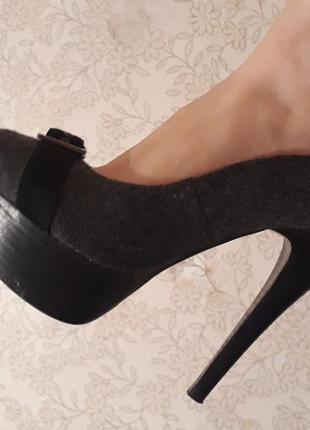 Туфли ellenka платформа и высокий каблук