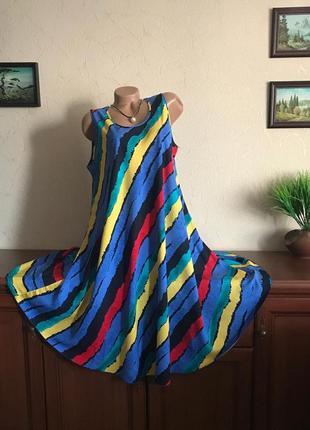Роскошное легкое платье сарафан натуральный штапель 48-62р