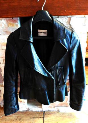 Стильная куртка-косуха, натуральная кожа, бренд kor@kor, италия