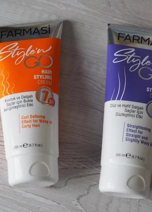 Крем-стайлинг для кудрявых волос фармаси farmasi style`n go