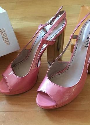 Туфли розовые на каблуке 14 см