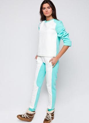 View mode спортивный костюм очень теплый цвет мята