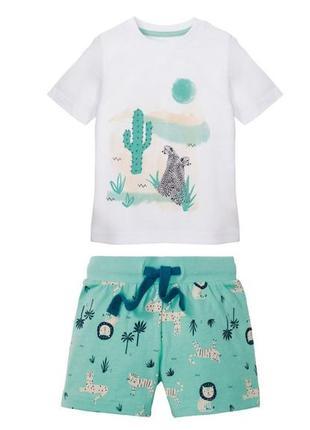 Костюм летний для мальчика футболка и шорты lupilu. германия. 98-104, 110-116