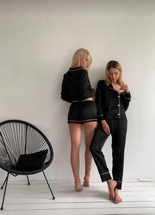 Набор  тройка пижамы рубашка шорты штаны