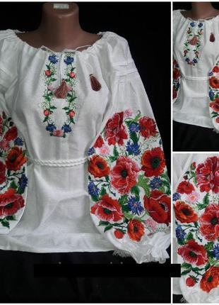 Шикарная вышиванка в стиле бохо.шикарна вишиванка оздоблена пишними квітами